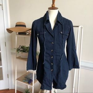 Cabi denim drawstring lightweight layering jacket
